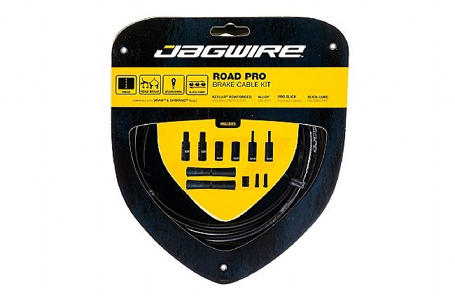 Jagwire Road Pro Polished Brake Cable Kit Black - Sram/Shimano