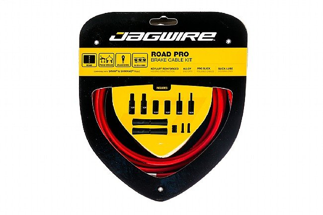 Jagwire Road Pro Polished Brake Cable Kit Red - Sram/Shimano