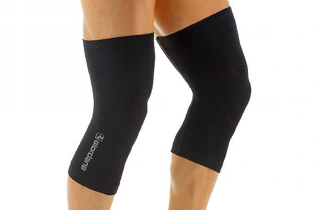 Giordana Lightweight Knitted Dryarn Knee Warmer Black - XS/S