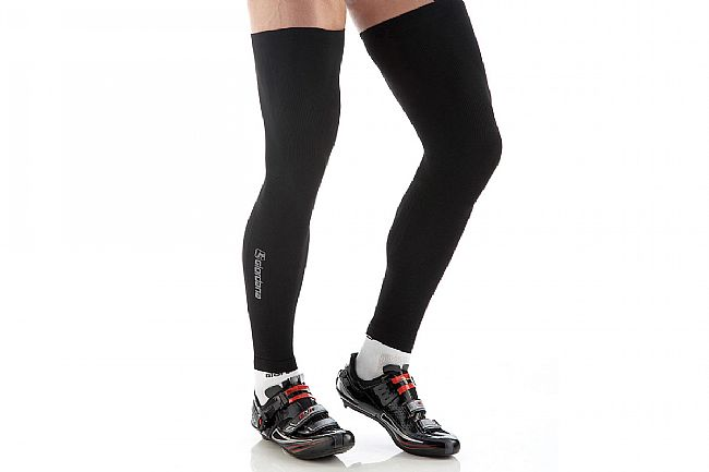 Giordana Lightweight Knitted Dryarn Leg Warmer Black - XS/S