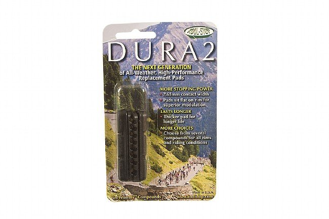 Kool Stop Dura 2 Shimano-Type Brake Inserts Black - Dry Conditions