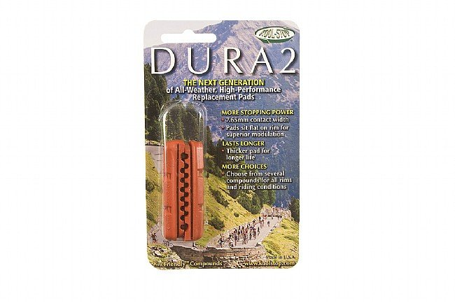 Kool Stop Dura 2 Shimano-Type Brake Inserts Salmon - Wet Conditions