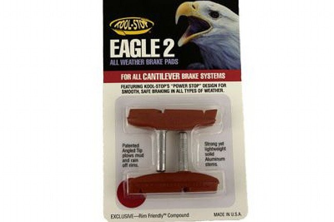 Kool Stop Eagle Claw 2 Brake Pads Salmon - Smooth Post