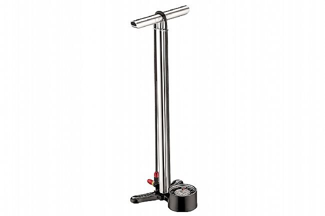 Lezyne CNC Floor Drive Pump With ABS1 Pro Silver