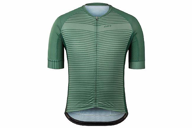 Louis Garneau Mens District Jersey Green Stripes