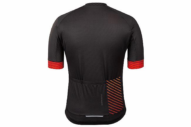 Louis Garneau Mens District Jersey Black / Red / Multi Lines