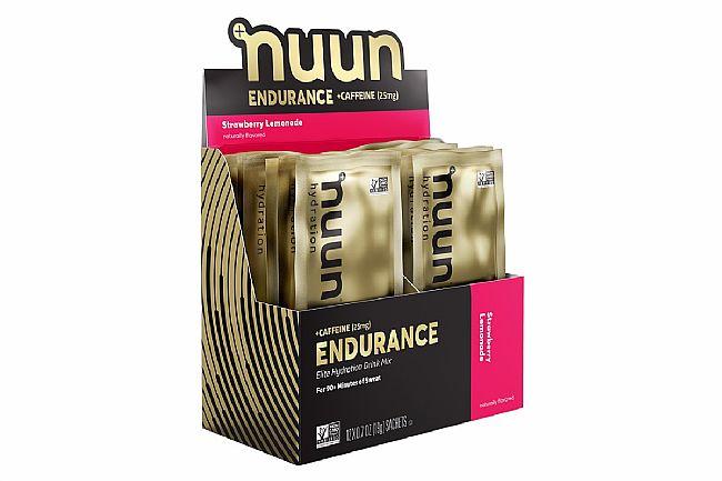 Nuun Endurance Elite Hydration Mix (Box of 12) Strawberry Lemonade + Caffeine