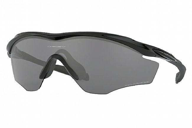 Oakley M2 Frame XL Sunglasses Polished Black w/Black Iridium Polarized