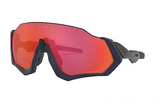 Oakley Flight Jacket Sunglasses Matte Navy - Prizm Trail Torch