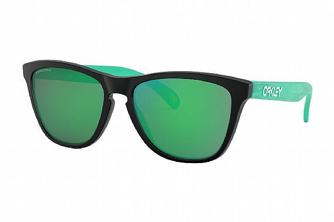 Oakley Origins Frogskins Sunglasses Matte Black/Celeste - PRIZM Jade
