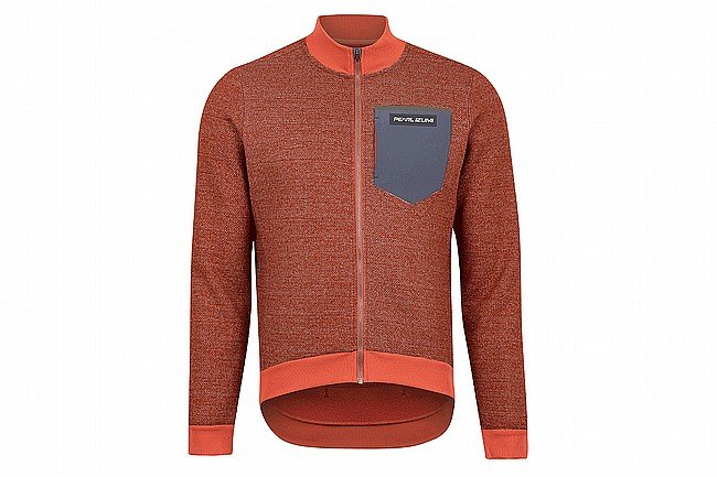 Pearl Izumi Mens Expedition Thermal Jersey Burnt Rust/Adobe