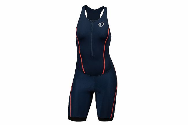 Pearl Izumi Womens Select Pursuit Tri Suit Navy/Fiery Coral