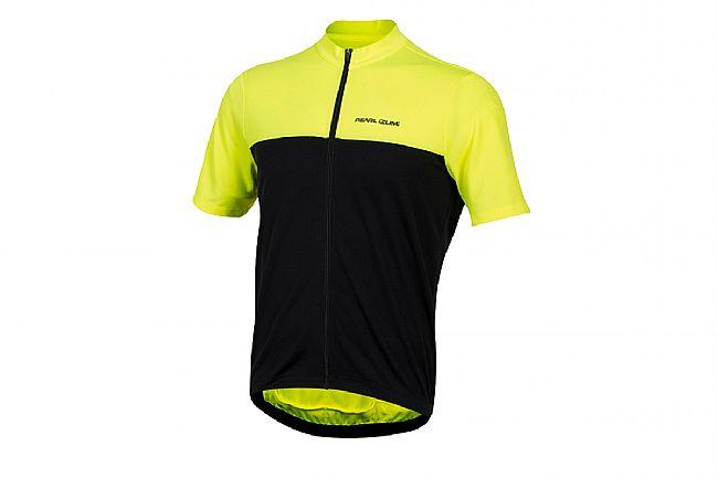 Pearl Izumi Mens Quest Short Sleeve Jersey ( Past Season ) Screaming Yellow / Black