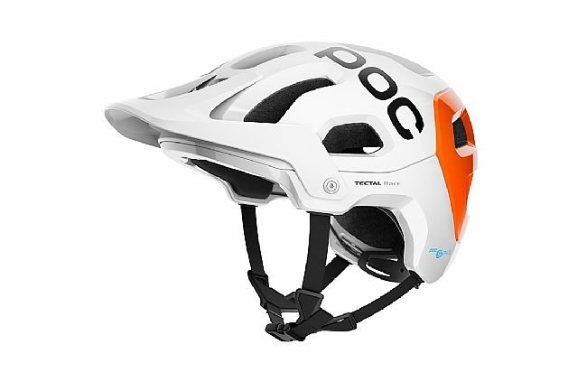 POC Tectal Race SPIN NFC MTB Helmet Hydrogen White/Fluorescent Orange AVIP