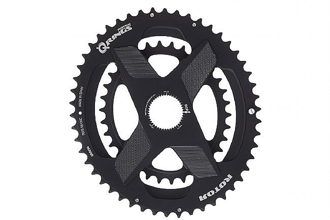 Rotor Aldhu Q Spidering Oval Direct Mount Chainring Set 53/39 Tooth Q-Rings