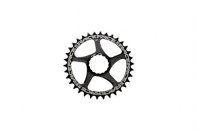 Race Face Cinch Direct Mount N/W Single Chainring 10-12speed 24 Tooth, Black