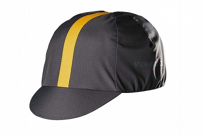 Showers Pass Elite Cycling Cap Graphite Golden Rod - One Size