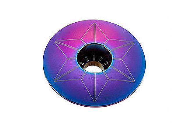 Supacaz Star Capz Headset Top Cap Oil Slick