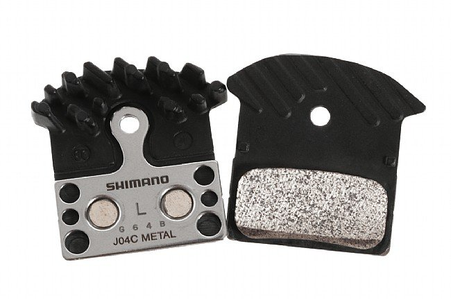 Shimano J04C Metal Disc Pads with Cooling Fins Shimano JO4C Metal Disc Pads with Cooling Fins