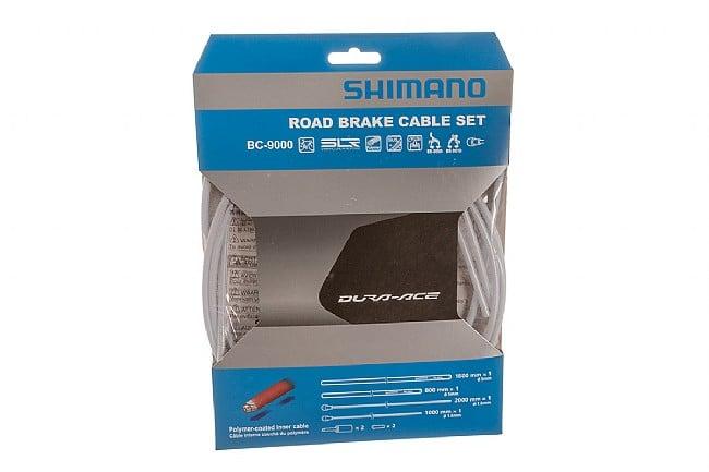 Shimano Polymer Coated Brake Cable Set White