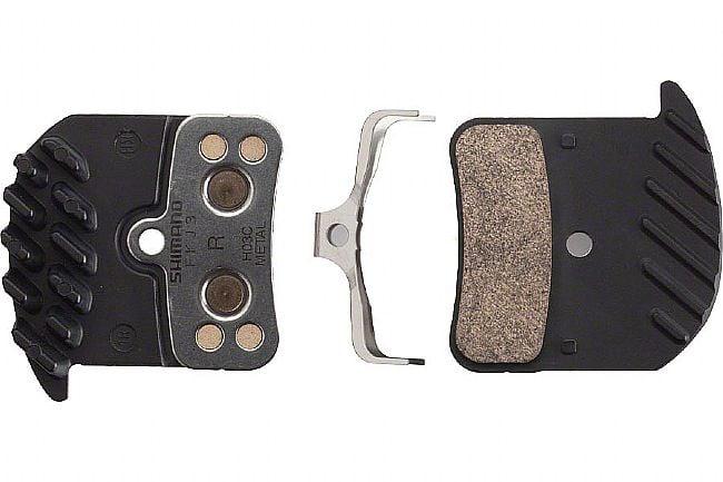 Shimano H03C Metal Disc Brake Pad with Fins Shimano  H03C Metal Disc Brake Pad with Fins