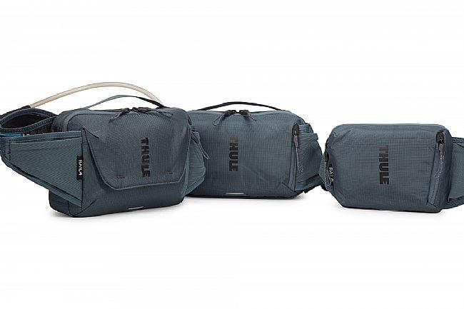 Thule Rail Hydration Hip Pack 4L Thule Rail Hip Bags - 4L, 2L & 0L (Left to Right)