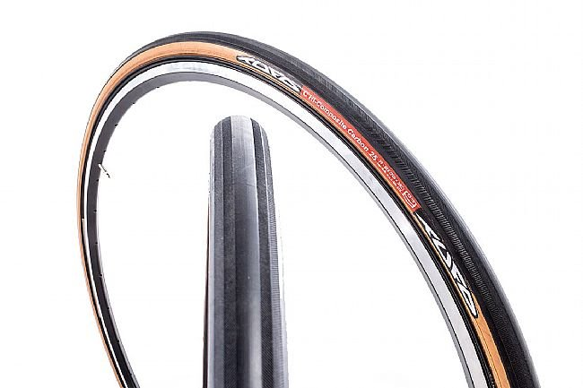Tufo Hi-Composite Carbon Tubular-Clincher Road Tire Black tread/Beige Sidewall - 700 x 25mm