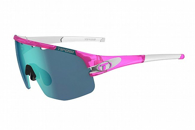 Tifosi Sledge Lite Sunglasses Crystal Pink - Clarion Blue/AC Red/Clear