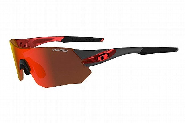 Tifosi Tsali Sunglasses Gunmetal/Red - Clarion Red/AC Red/Clear