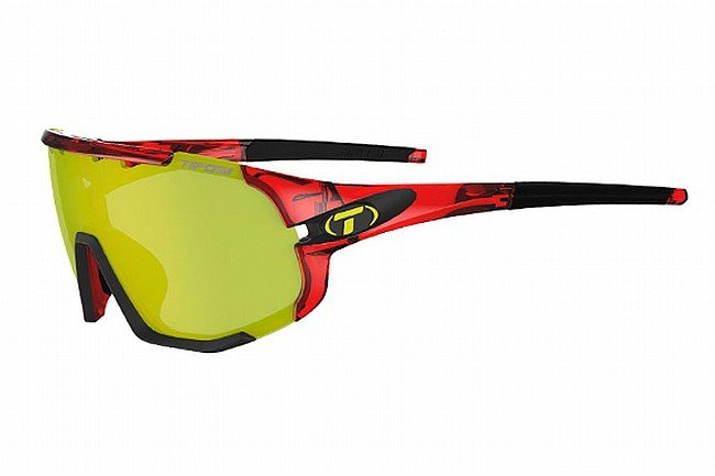 Tifosi Sledge Sunglasses Crystal Red - Clarion Yellow/AC Red/Clear