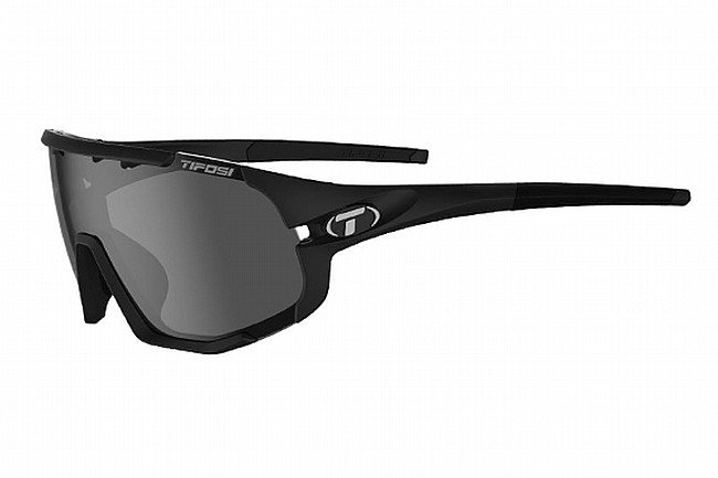 Tifosi Sledge Sunglasses Matte Black - Smoke/AC Red/Clear