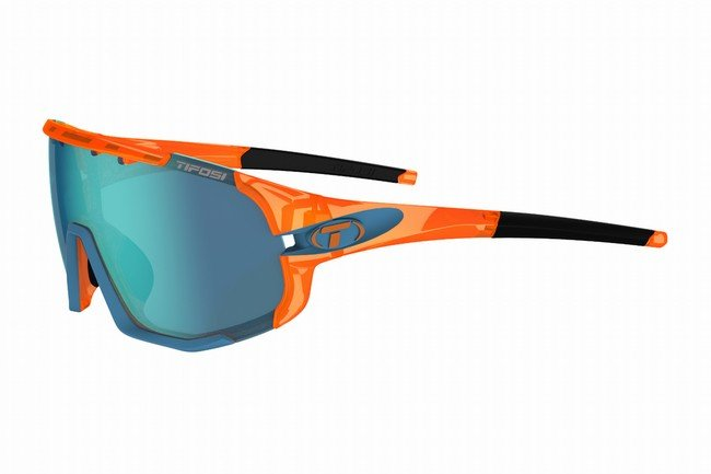 Tifosi Sledge Sunglasses Crystal Orange - Clarion Blue/AC Red/Clear