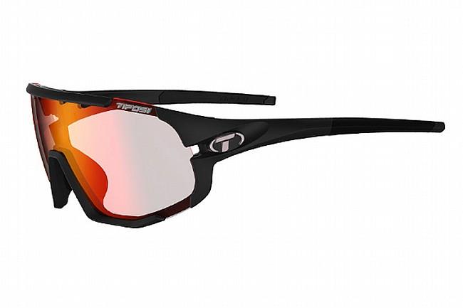 Tifosi Sledge Sunglasses Matte Black - Clarion Red Fototec