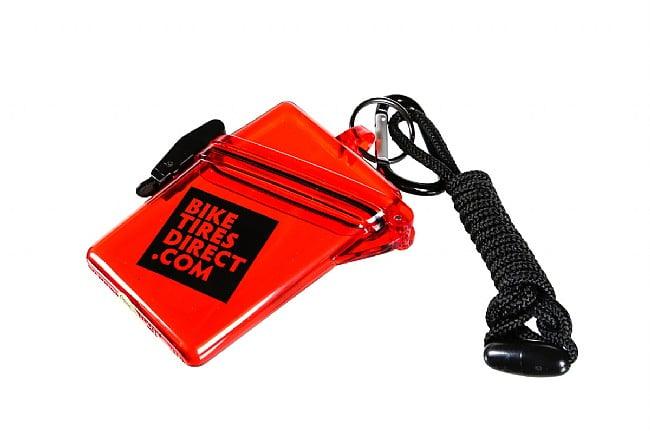 BikeTiresDirect Waterproof Sport Case Translucent Red