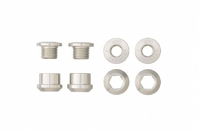 Wolf Tooth Components Set of 4 Alloy Chainring Bolts for 1x Drivetrains Silver