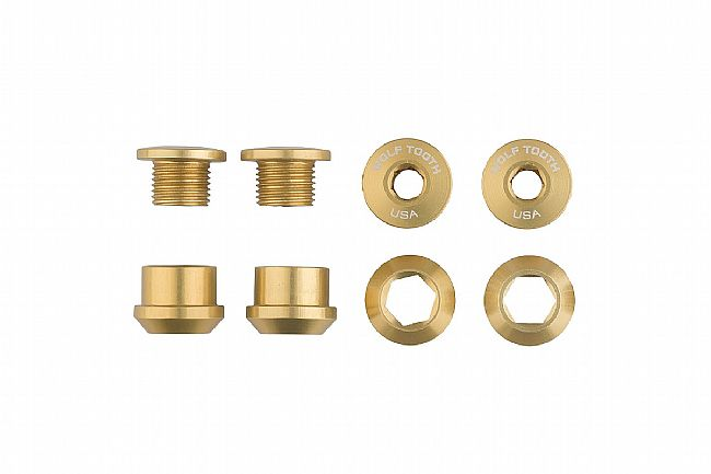 Wolf Tooth Components Set of 4 Alloy Chainring Bolts for 1x Drivetrains Gold