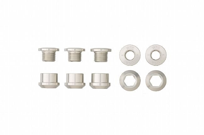 Wolf Tooth Components Set of 5 Alloy Chainring Bolts for 1x Drivetrains Silver