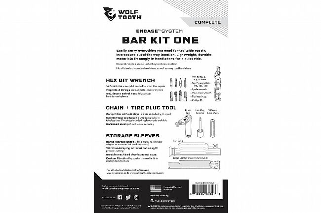 Wolf Tooth Components Encase System Bar Kit One Wolf Tooth Components Encase System Bar Kit One