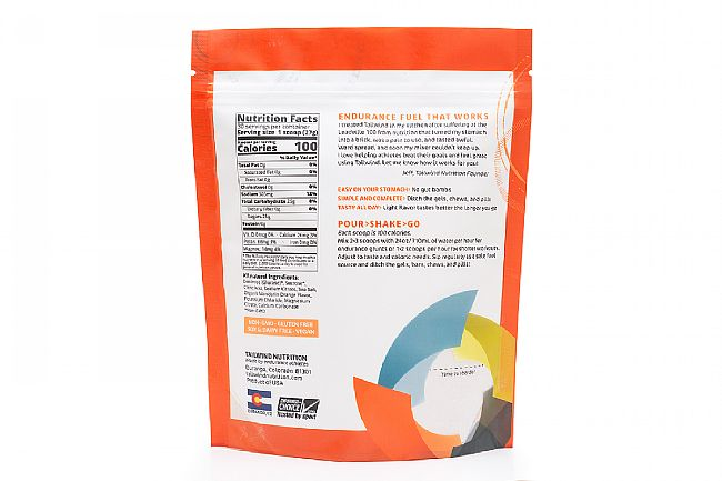 Tailwind Nutrition Endurance Fuel Mandarin Orange Nutrition Facts (30 Servings)