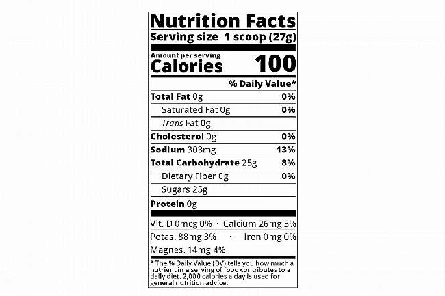 Tailwind Nutrition Endurance Fuel (12 Single Servings) Tailwind Nutrition Endurance Fuel Nutrition Facts