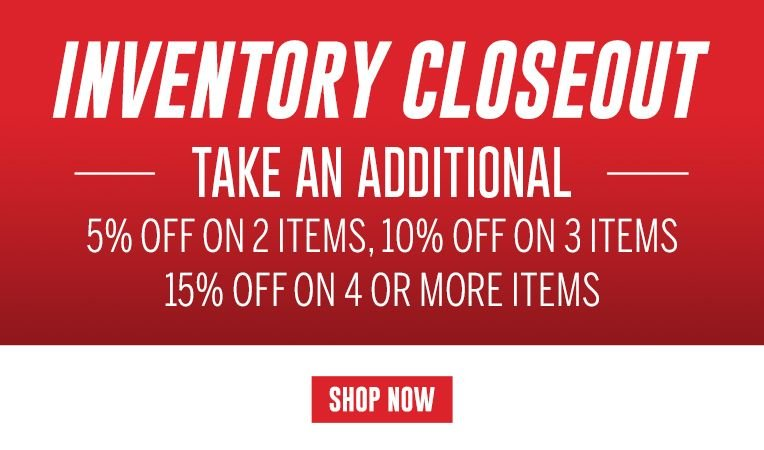 Inventory Closeouts - Save up to 70% on 200 Products