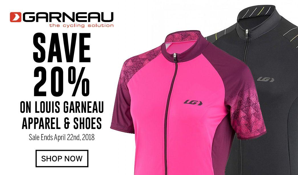 Save 20 on Louis Garneau - Sale Ends April 22nd, 2018
