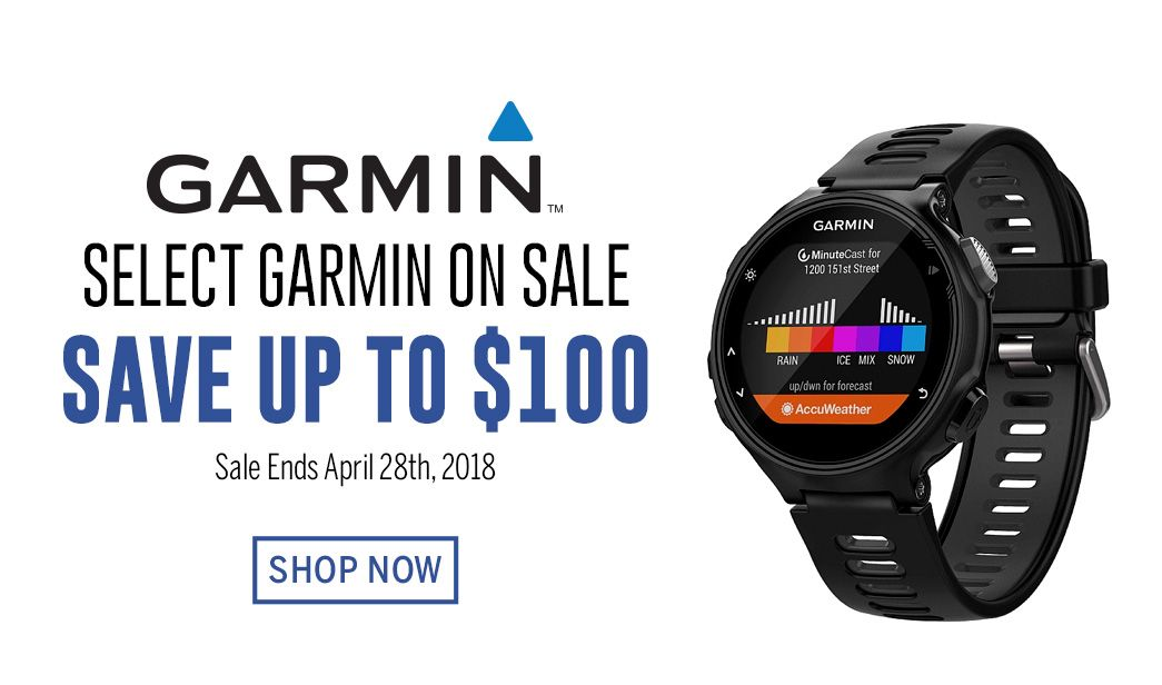 Select Garmin on Sale - Save up to $100 - Sale Ends April 28th, 2018
