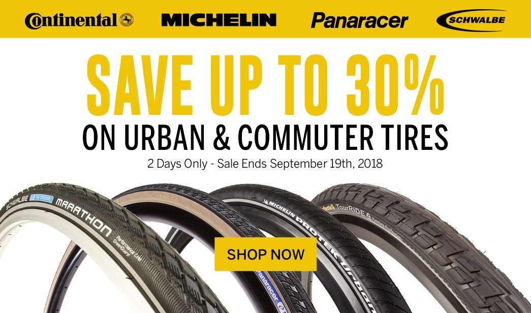 Save up to 30 on Urban and Commuter Tires