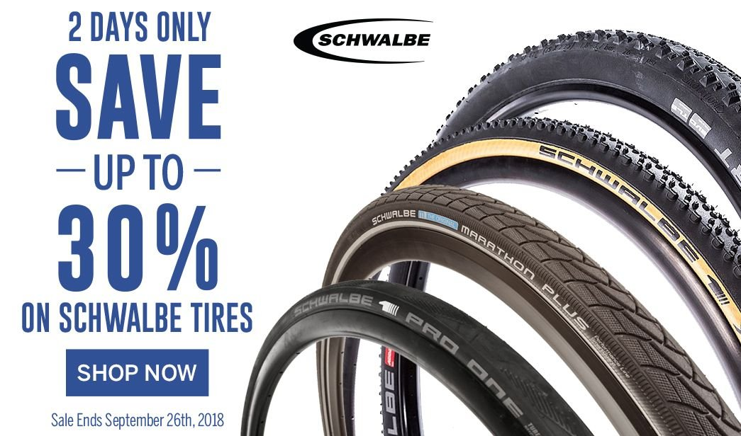 Save up to 30 on Schwalbe Tires