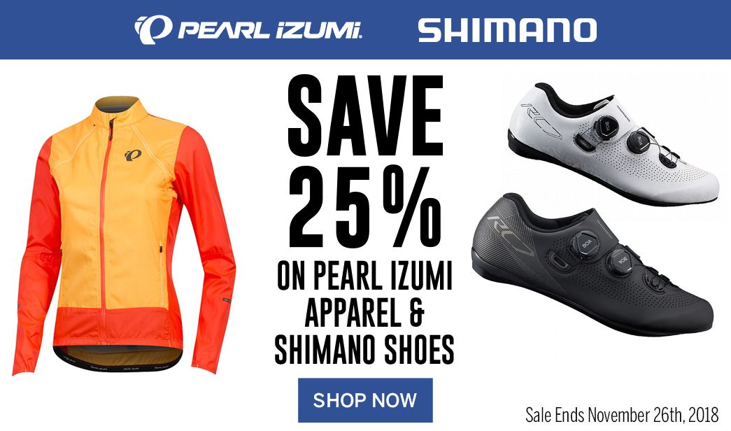 Save 25 on Pearl Izumi Apparel and Shimano Shoes
