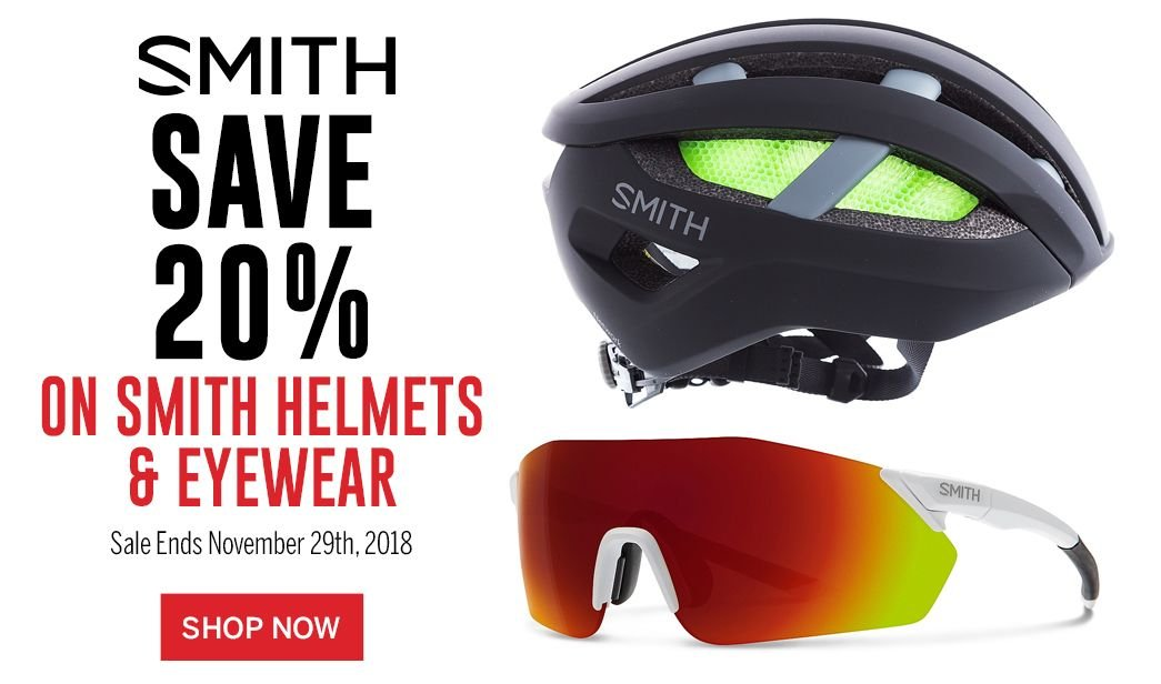 Save 20 on Smith Helmets and Eyewear