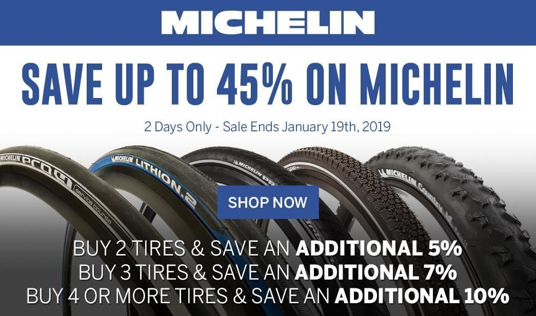 Save up to 45 on Michelin