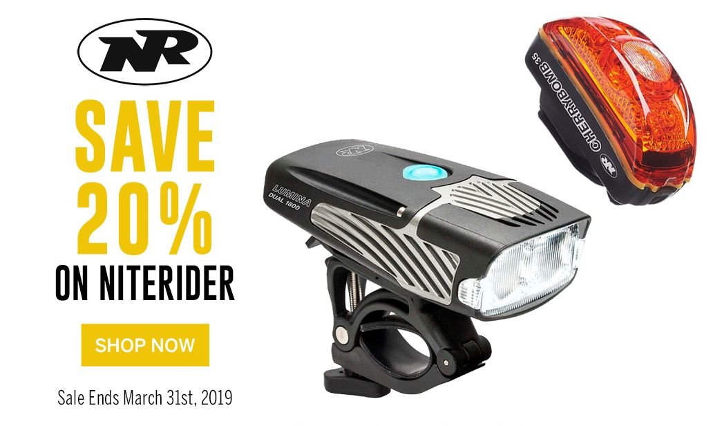 Save 20 on NiteRider