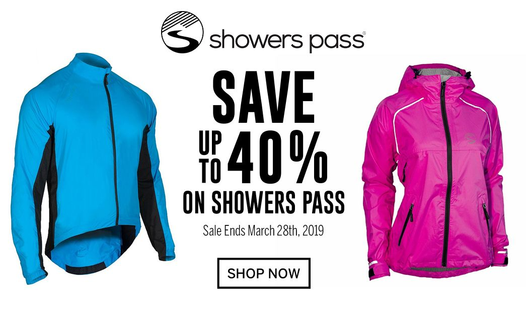 Save up to 40 on Showers Pass